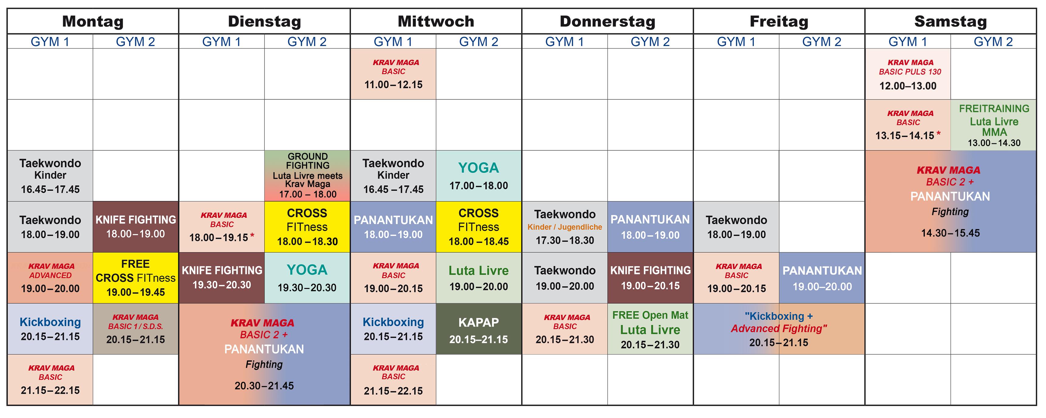 trainingsplan sportschule choi berlin