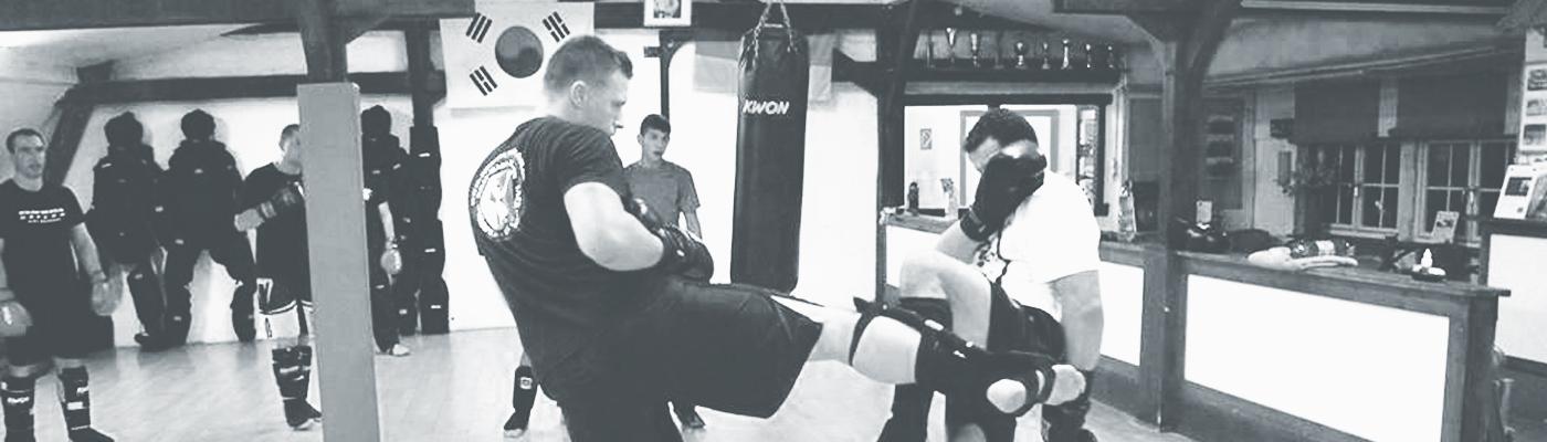 Action beim Kickboxen