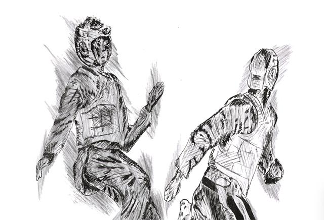 taekwondo-zeichnung