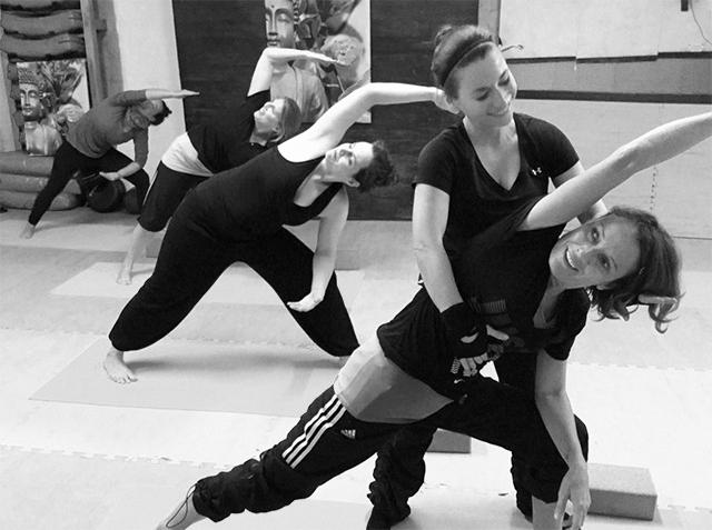 Yogakurs in der Sportschule Choi
